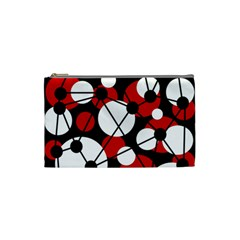 Red, black and white pattern Cosmetic Bag (Small)