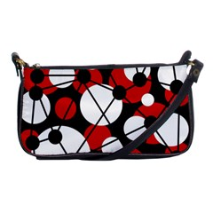 Red, black and white pattern Shoulder Clutch Bags