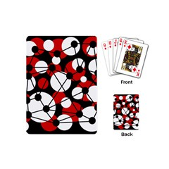 Red, black and white pattern Playing Cards (Mini)