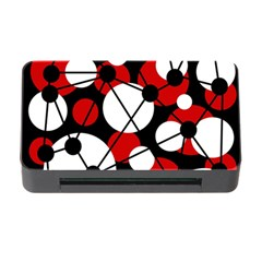Red, black and white pattern Memory Card Reader with CF