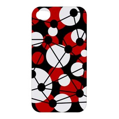 Red, black and white pattern Apple iPhone 4/4S Hardshell Case