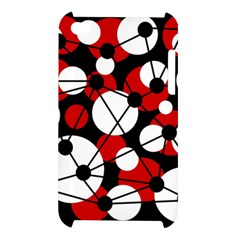 Red, black and white pattern Apple iPod Touch 4
