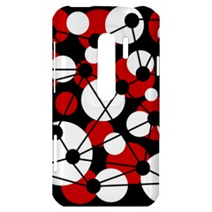 Red, black and white pattern HTC Evo 3D Hardshell Case