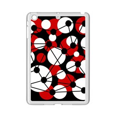 Red, black and white pattern iPad Mini 2 Enamel Coated Cases