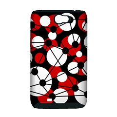 Red, black and white pattern Samsung Galaxy Note 2 Hardshell Case (PC+Silicone)