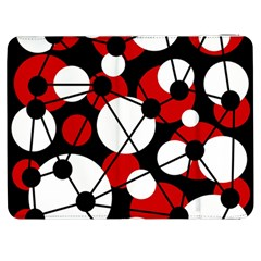 Red, black and white pattern Samsung Galaxy Tab 7  P1000 Flip Case