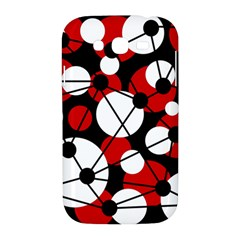Red, black and white pattern Samsung Galaxy Grand DUOS I9082 Hardshell Case