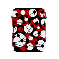 Red, black and white pattern Apple iPad 2/3/4 Protective Soft Cases