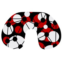 Red, black and white pattern Travel Neck Pillows