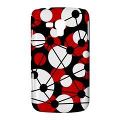 Red, black and white pattern Samsung Galaxy Duos I8262 Hardshell Case