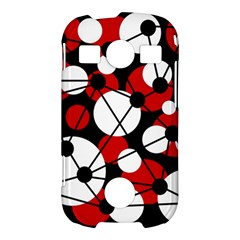 Red, black and white pattern Samsung Galaxy S7710 Xcover 2 Hardshell Case