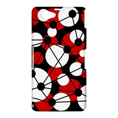 Red, black and white pattern Sony Xperia Z1 Compact