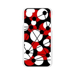 Red, black and white pattern Apple Seamless iPhone 6/6S Case (Transparent)