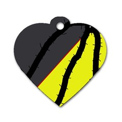 Spider Dog Tag Heart (Two Sides)