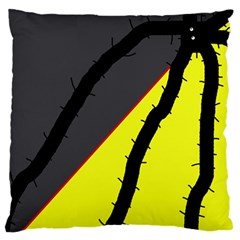 Spider Large Flano Cushion Case (One Side)