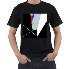 Colorful abstraction Men s T-Shirt (Black) (Two Sided)