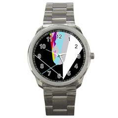 Colorful abstraction Sport Metal Watch