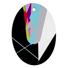 Colorful abstraction Oval Ornament (Two Sides)
