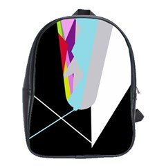 Colorful abstraction School Bags(Large)