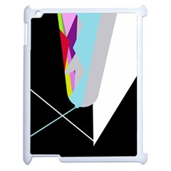 Colorful abstraction Apple iPad 2 Case (White)