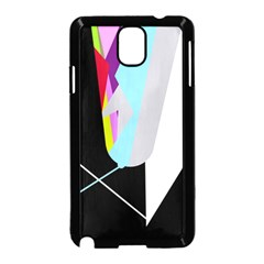 Colorful abstraction Samsung Galaxy Note 3 Neo Hardshell Case (Black)