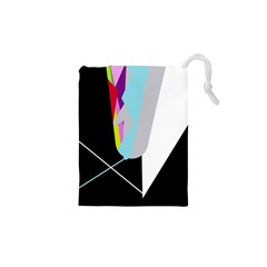Colorful abstraction Drawstring Pouches (XS)