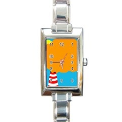 Chimney Rectangle Italian Charm Watch