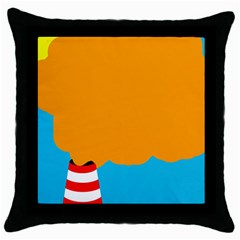Chimney Throw Pillow Case (Black)