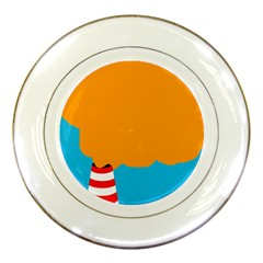 Chimney Porcelain Plates