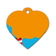 Chimney Dog Tag Heart (Two Sides)