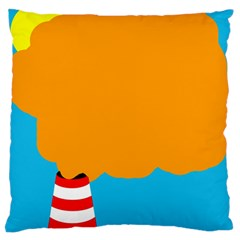 Chimney Large Flano Cushion Case (One Side)