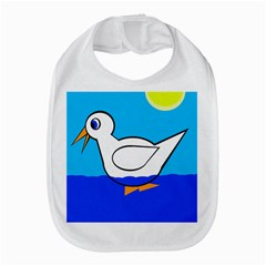 White duck Bib