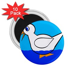 White duck 2.25  Magnets (10 pack)