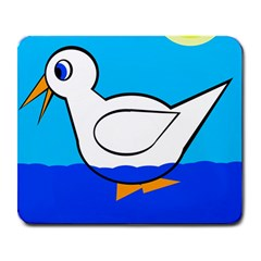 White duck Large Mousepads