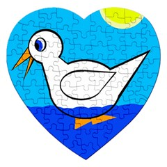 White duck Jigsaw Puzzle (Heart)