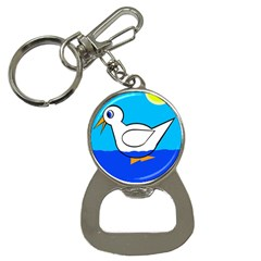 White duck Bottle Opener Key Chains
