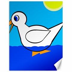 White duck Canvas 12  x 16