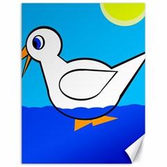 White duck Canvas 18  x 24
