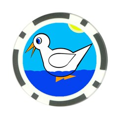 White duck Poker Chip Card Guards
