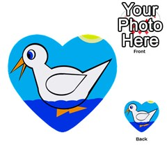 White Duck Multi Purpose Cards (heart)