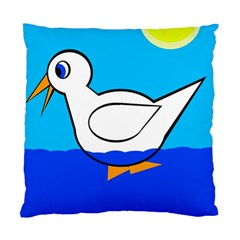 White duck Standard Cushion Case (Two Sides)