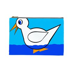 White duck Cosmetic Bag (Large)