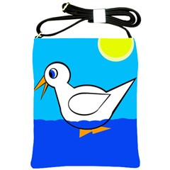 White duck Shoulder Sling Bags