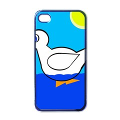White duck Apple iPhone 4 Case (Black)