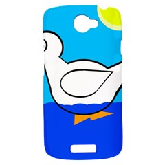 White duck HTC One S Hardshell Case