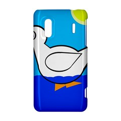 White duck HTC Evo Design 4G/ Hero S Hardshell Case