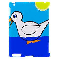 White duck Apple iPad 2 Hardshell Case (Compatible with Smart Cover)