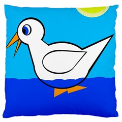 White duck Large Cushion Case (One Side)