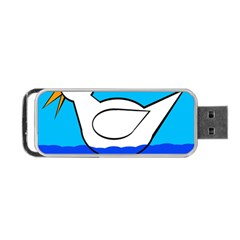 White duck Portable USB Flash (One Side)