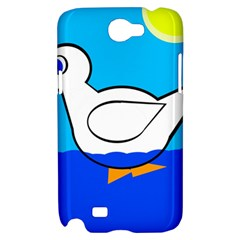 White duck Samsung Galaxy Note 2 Hardshell Case